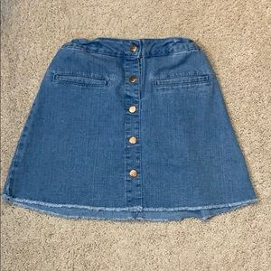 💚5 for 20$💚 Forever 21 Girls Denim Skirt Buttons